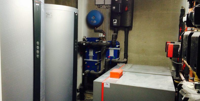 water-water warmtepomp bedrijf
