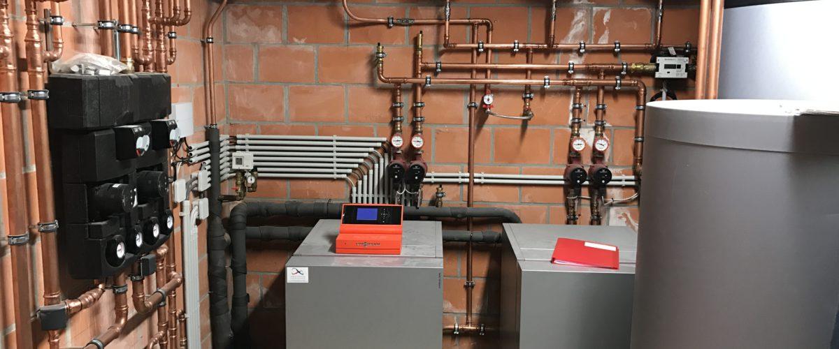 geothermische warmtepomp gemeenschappelijke installatie meergezinswoning