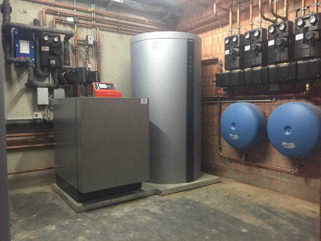 Gezamelijke installatie warmtepomp meergezinswoning
