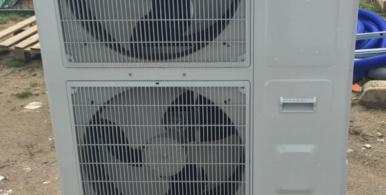 lucht-water warmtepomp woning buitenunit