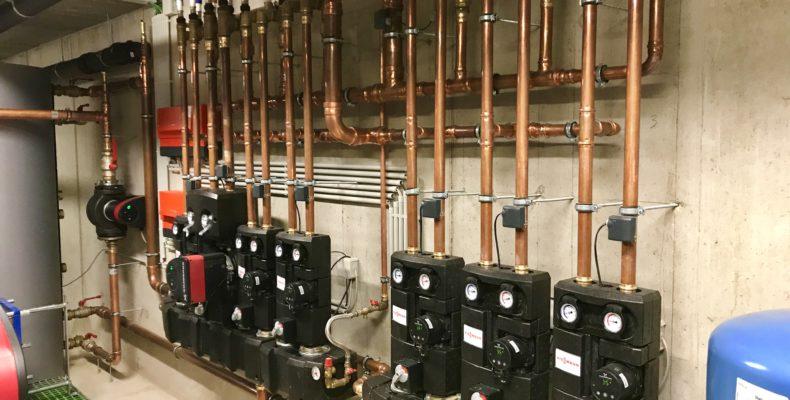Warmtepompinstallatie water/water kantoren