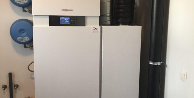 compacte warmtepomp met interne boiler